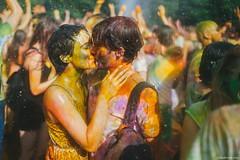 Love on holi festival (Oleh Slobodeniuk) Tags: boy india holiday color cute love water girl rain fun outdoors spring kiss hugs holi