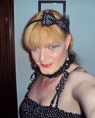 Polka dots selfie (Felicia Colette) Tags: cd polkadots transvestite crossdresser selfie