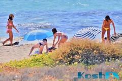 Trio (sheen_kosh) Tags: beach beauty candid bikini thong topless formentera