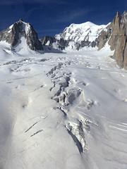 Chamonix, massif du Mont-Blanc, glacier du Gant (Ytierny) Tags: france vertical neige chamonix crevasse montblanc glace alpinisme hautesavoie valleblanche et srac helbronner massifdumontblanc hautemontagne glacierdugant alpesdunord ytierny