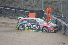 Champion Colin Turkington gets out of his car in BTCC at Brands Hatch, October 2014 (MarkHaggan) Tags: kent track ebay crash sunday bmw barrier circuit btcc brandshatch 2014 touringcars britishtouringcarchampionship turkington ebaymotors colinturkington racetwo bmw125 bmw125imsport october2014 btcc2014