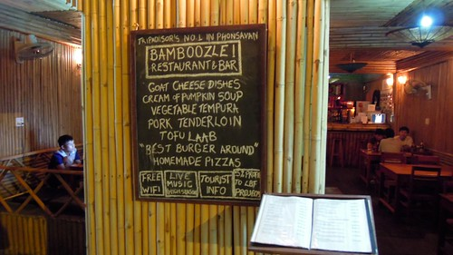 Bamboozle restaurant, Phonsovan