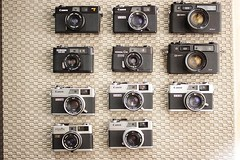My Rangefinder collection (grisnils) Tags: canon rangefinder electro konica 35 canonet ql17 yashica chinon canonet28 35ee c35 a35f