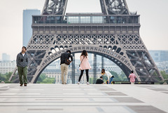 it's behind you..... (Mike Franks) Tags: paris tourism eiffeltower tourists trocadero