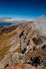Pea Ubia (JGF Photo) Tags: espaa mountain rock stone clouds landscape spain hiking paisaje nubes montaa len senderismo rocas pea piedra ubia