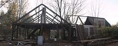 2014_1017Day-Farmhouse-Demo-Pano0001 (maineman152 (Lou)) Tags: building history farmhouse farming maine progress demolition salvage oldfarm tearingdown parsonsfield