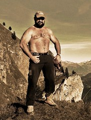 rugged mountain, rugged swiss hunk 56, oct. 2014 (Farmerbaer) Tags: hairy beefy bearded sturdy rugged brawny muscled stocky berneralpen swissfarmer swisshunk