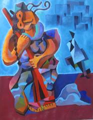 La barrendera (Juanmanuel Lima) Tags: trabajo surreal pobre duro escoba surrealismo cubismo indigena fuerza onirico marginacion barrer barrendera