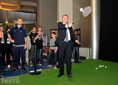 Initiation au badminton avec le numéro un français, Brice Leverdez