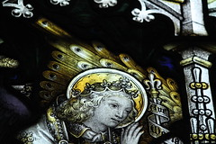 Detail, Stained glass window, St Mary's, Bottesford (Jules & Jenny) Tags: rutland stainedglasswindow manners bottesford kempe
