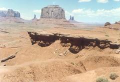 Monument Valley Tribal Park AZ- 1991  (3) (kevystew) Tags: arizona monumentvalley us163 navajocounty tribalpark