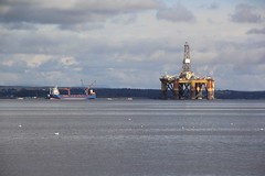 Rig at Anchor. (Seckington Images) Tags: scotland flickr rig oil
