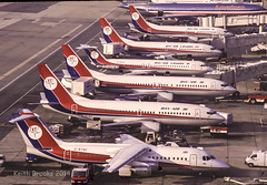 DanAir Lineup LGW (keithbrooks) Tags: old airport shots gatwick
