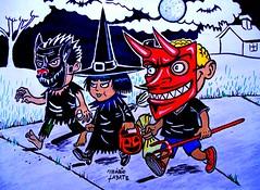 Happy Halloween (mariolabate) Tags: halloween werewolf witch cartoon devil