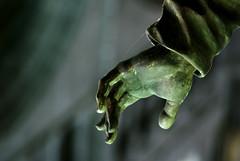 Devotion - in the Collgiale Notre-Dame de Dinant (Pieter Berkhout) Tags: sculpture hand devotion greenlight pieter dinant berkhout mysticism lightfall collgialenotredame pieterberkhout