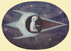 The Visitor (VLADIMIR... . . .) Tags: illustration alien gif watercolors animatedgif extraterrestrials betweenworlds alienanimatedgifs