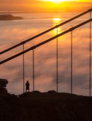 photographer 3 (otgpics) Tags: california camera morning vacation mist lines fog island bay early san francisco suspension sunday cables alcatraz hangers