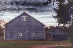 Grey Ghost (kth1110) Tags: old blue autumn fall abandoned field barn grey peeling paint antique farm connecticut country barns newengland ct peelingpaint countryroad