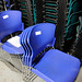 Large selection of stacking chairs