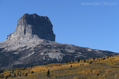 "Chief Mountain in Autumn • <a style=""font-size:0.8em;"" href=""http://www.flickr.com/photos/63501323@N07/15593557756/"" target=""_blank"">View on Flickr</a>"