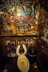 One of the nicer bathrooms at The Gutter. (Bee Nouveau) Tags: new york city nyc brooklyn bar bathroom graffiti dive dirty bowling williamsburg gutter nasty