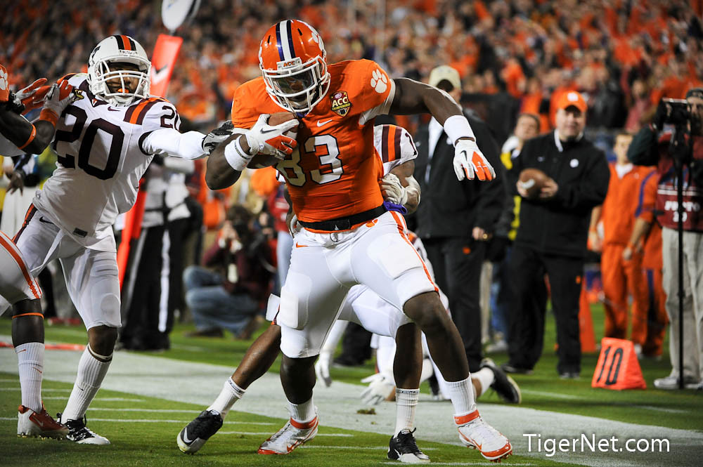 Clemson Photos: 2011, accchampionship, Dwayne  Allen, Football, Virginia  Tech