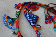 beaded crochet statement necklace - old world - necklace with orange, red, blue and green beaded flowers and cotton fibers by irregular expressions (irregular expressions) Tags: pink flowers blue red orange flower green art thread yellow necklace beads colorful long handmade turquoise unique limegreen crochet expressions magenta indigo jewelry jewellery cotton button statement kelly wearableart etsy wearable fiberart fiber crocheted beaded peagreen pendant beadwork textileart olivegreen irregular freeform flowery delica kuchi seedbeads beadednecklace beadcrochet freeformcrochet ceruleanblue delicabeads crochetnecklace beadedcrochet crochetart cardinalred magentapink cottonfiber coralred beadedlace irregularexpressions statementnecklace statementjewelry acrylicthread beadedcrochetnecklace kuchipendant ndigoblue