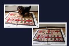Trilho de mesa (ceciliamezzomo) Tags: red kitchen de table handmade stripe vermelho fabric patchwork runner mesa cozinha tecido tiras trilho