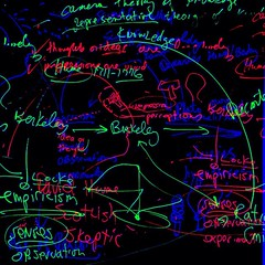 """""""""""Epistemology in a Nutshell"""" [from my PHI 101 whiteboard today; October 23, 2014"""" (Paul Ewing) Tags: square philosophy whiteboard squareformat continuum continua epistemology iphoneography instagramapp uploaded:by=instagram paulewing"""