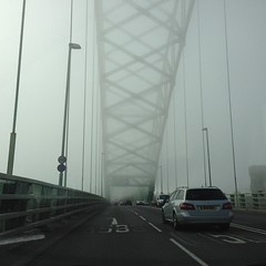 Runcorn Bridge (breakbeat) Tags: bridge autumn mist fog runcorn