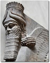 Winged human-headed bull (oar_square) Tags: ancientcivilization mesopotamia lamassu assyrian ancientculture shedu compositefigure wingedhumanheadedbull moderniraq 715bce protectivegenies guardiansatthegates