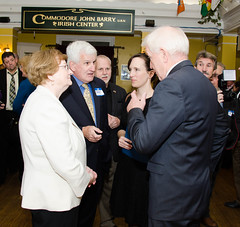 Minister Deenihan Meets with Frank McDonnell of the Donegal Society