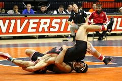 Reversal (RPahre) Tags: illiniquad northernillinoisuniversity northernillinois niu rideruniversity rider huff huffhall champaign wrestling reversal robertpahrephotography copyrighted donotusewithoutwrittenpermission