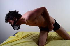 Renan Guerreiro-282 (guimarquesbackup) Tags: boy shirtless man sexy guy toxic brasil nude ensaio pessoas friend mask muscle sopaulo capital moda hunk sensual gas retratos editorial gasmask corpo pele pelo cueca musculo fotografico toxi semcamisa