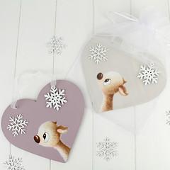 Winter Whispers Christmas Heart Gifts (jac.cheekymonkeystudio) Tags: christmas christmasdecoration whimsical cute kidschristmas cutechristmas whimsicalchristmas animals whimiscalanimals deer fawn snowflakes snow