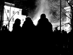 fire and words (samuele.dangelo) Tags: black white bw monochrome outdoor contrast dark forge bonfire fire fal varese santantonio silhouette people flames winter
