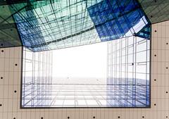 Looking up! (Bart Weerdenburg) Tags: stadskantoor utrecht art architecture lines lookingup abstract shapes blue green