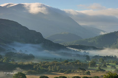 The Clearing Mist (jeanette_lea) Tags: the lake district cumbria sunrise cloud inversion mist sky valley trees grass fells