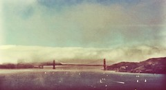 (People, Place, and Space in an iPhone Image) Tags: goldengatebridge