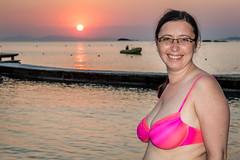 Matina (stephanrudolph) Tags: d750 handheld greece griechenland europe europa sun sunset beach water woman girl bikini swimwear swimsuit people friends family autoremovedfrom1to5faves