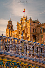 Plaza de Espaa (Chiara Salvadori) Tags: artdeco neomudjar parquedemarialuisa plazadeespana renaissancerevival travelphotography andalusia architecture building city culture europe naboo outdoors premiun sevilla seville siviglia spain spring sun sundown sunset town travel traveling urban