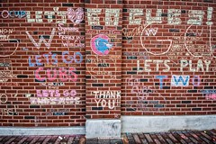 Let's Go Cubs / Let's Play Two (Joshua Mellin) Tags: chicagocubs wrigleyfield worldseries 2016 chalk graffiti chalkgraffiti w flythew cubswin stadium outside wrigley wrigleyville game7 tickets seats tv baseball mlb hope chicago champions championship 1908 108 fans chicagocubsworldseries worldseries2016