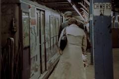 Chambers Street 1981 (Alvin Harp) Tags: 1981 vintage film minolta101 chambersstreet subway graffiti grunge nyc newyorkcity alvinharp
