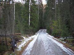 2016 Bike 180: Day 278, November 19 (olmofin) Tags: 2016bike180 finland bicycle ice snow path tracks lumi jää polkupyörä pitkäkoski keskuspuisto central park lumix 20mm f17