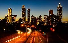 Atlanta (ArmyJacket) Tags: atlanta atl georgia downtown urban city traffic highway twilight outdoors cityscape bridge skyline
