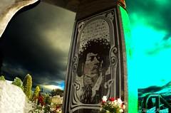 Hendrix_Abstract (che2525) Tags: hendrix jimmy memorial grave site purple haze little wing rock roll