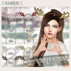 Glitter Reindeer hairbands @ The Arcade. (Ivana Lockhart) Tags: oleander arcade new release mesh band hair thing for your head idk im going bed bye
