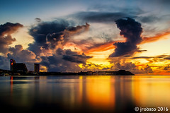Another Skyscape Over Tumon Bay, Guam (orgazmo) Tags: pentax k1 fa28105mmf3556wr guam landscapes skyscapes sky clouds cloudformations cloudscapes tumon tumonbay longexposure twilight sunsets dusk