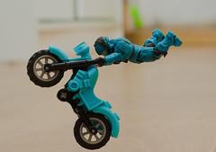 Toys can also make tricks (SecretLifeOfMinifigs) Tags: megabloks lego motorcycle trick