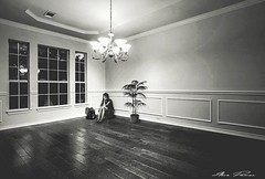 Emtpy spaces in our lives !. (DUMAN`S through the lens) Tags: house empty loneliness woman light shadows spaces home lady girl sad happines romantism worry floors flower plant abondened left alone thinking chandalirie livingroom walls molding frame